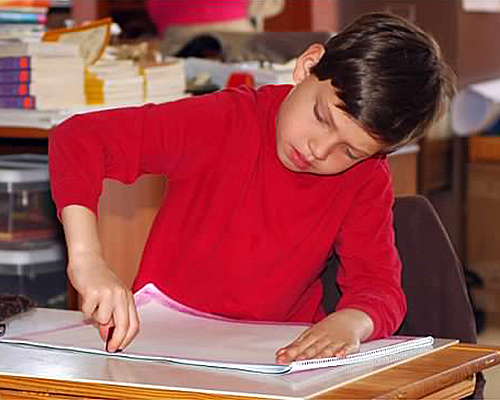 Oxbow Schoolhouse Students at Work